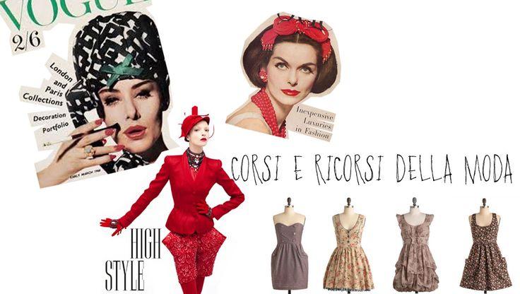 CORSI E RICORSI DELLA MODA. Sul nostro blog si parla di moda che per sua stessa natura, non solo è mutevole, ma ciclica. Secondo alcuni studi si ripropone ogni vent'anni, per altri è impossibile prevedere il ciclo di vita di uno stile: in certi casi scompaiono nel giro di breve tempo, in altri resistono per periodi più lunghi.  #moda #fashion #historic http://historic-brand.com/corsi-e-i-ricorsi-della-moda/
