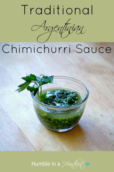 This traditional Argentinian Chimichurri Sauce is just how my mother-in-law makes it, and it's so versatile. Put it on your barbecued meat for a pop of flavor!