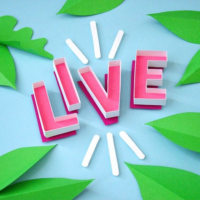 Live | Tommy Perez | paper craft | paper engineering | lettering