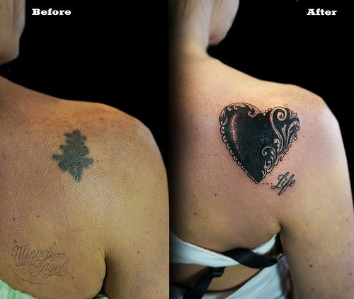 Love heart custom tattoo