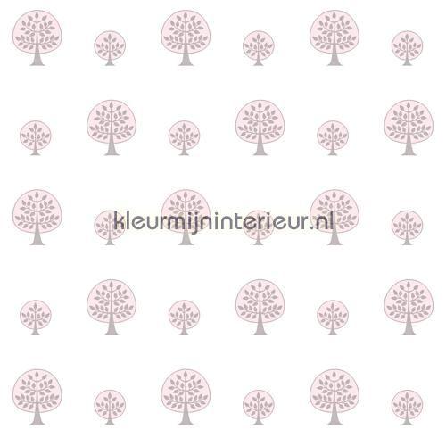 Solo boompjes paars behang JR 2102, uit de collectie Jack n Rose Junior van Hookedonwalls, verkrijgbaar bij kleurmijninterieur