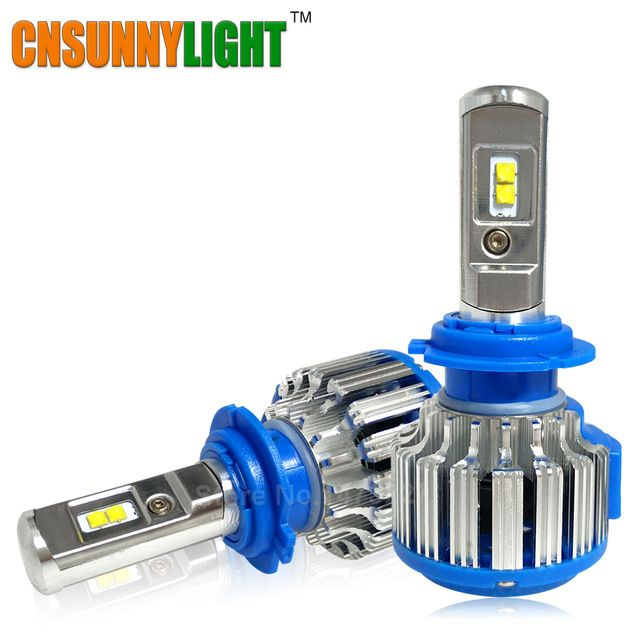 cnsunnylight brand Super Bright Car Headlights H7 LED H8/H11 HB3/9005 HB4/9006 H1 70W 7000lm Auto Front Bulb Automobile Headlamp 6000K Car Lighting