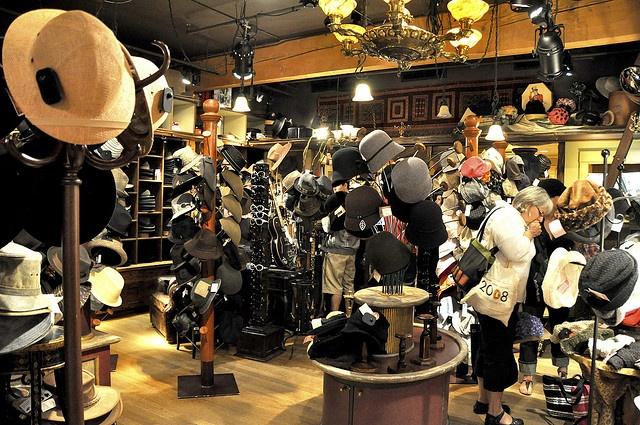 Inside the coolest hat store! by VancityAllie, via Flickr