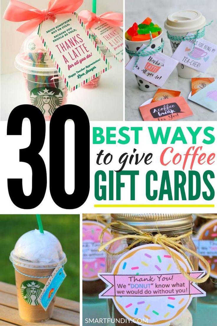39 unique fun coffee gift card ideas to make in 2020