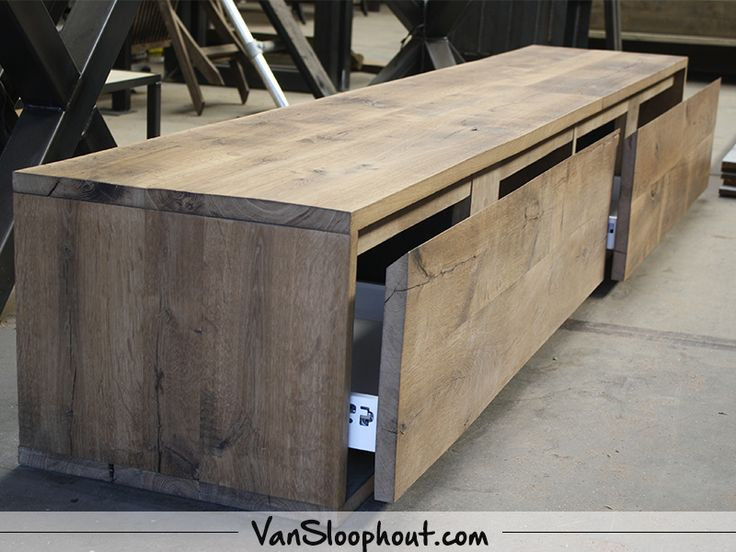 Eiken tv meubel met lades. #eiken #oak #tvmeubel #kastje #interieur #t