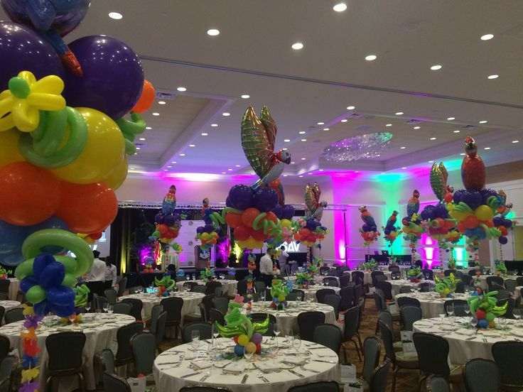 17 best images about luau and hawaii themed party for Balloon decoration for corporate events