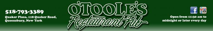 Queensbury NY Restaurant Menus Include Steaks, Seafood, Wings and More! Join us for a Great Meal at O'Toole's Pub