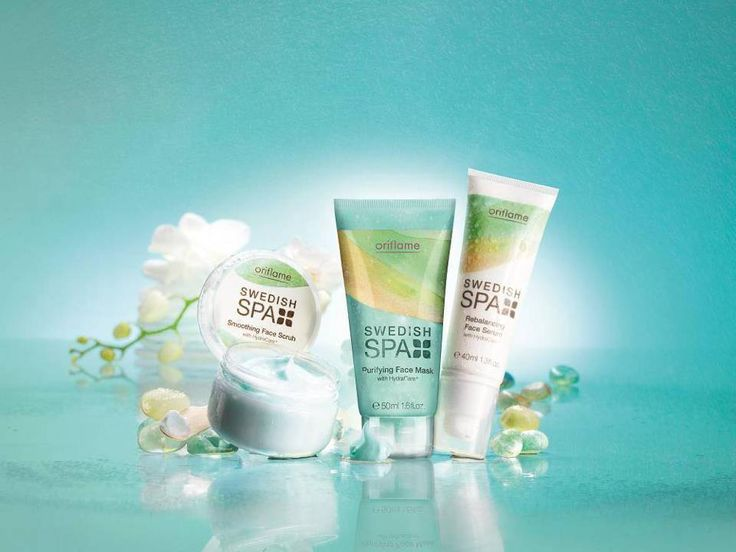 1.Swedish Spa Purifying Face Mask 2. Swedish Spa Smoothing Face Scrub 3.Swedish Spa Rebalancing Face Serum: Make your face more beautiful than it already is. Apply to cleansed skin, gently massage over face and neck. Hydrates and nourishes intensely. With protective malachite, soothing almond oil and soothing HydraCare