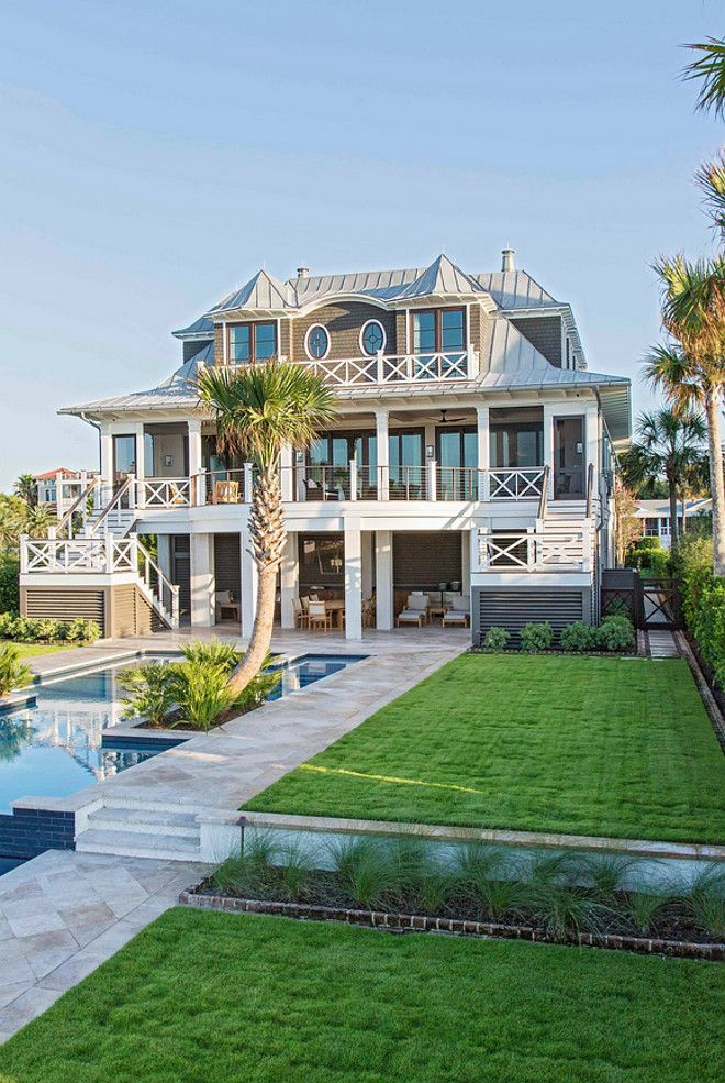Beach House with Rustic Coastal Interiors