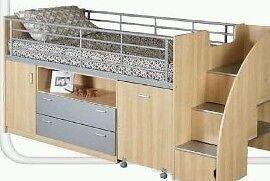 Childrens mid sleeper dreamstation bed by julien bowen