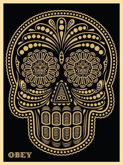dia-de-de-los-muertos-obey: Shepards Fairey, Street Art, Art Prints, Of The, Mexicans Skulls, Dead, Sugar Skulls, Day, Streetart