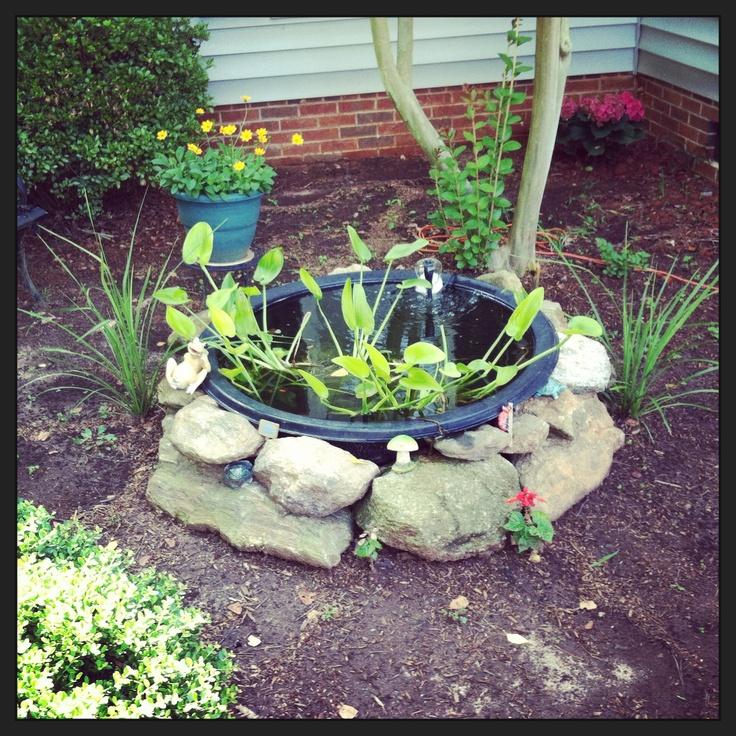 62 best outdoor pond images on pinterest backyard ponds for Outside goldfish ponds