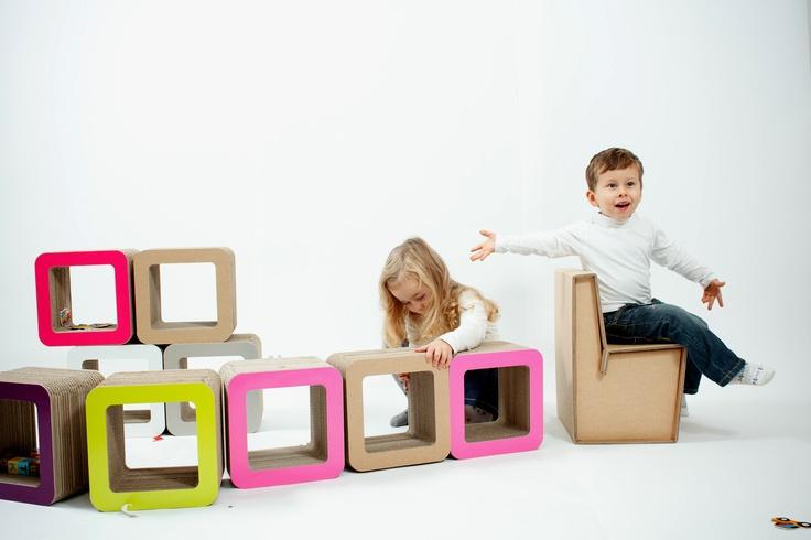Trenino! #kshop #mobili #cartone #ecologico #sostenibile #design #arredamento #tavolo #sedia