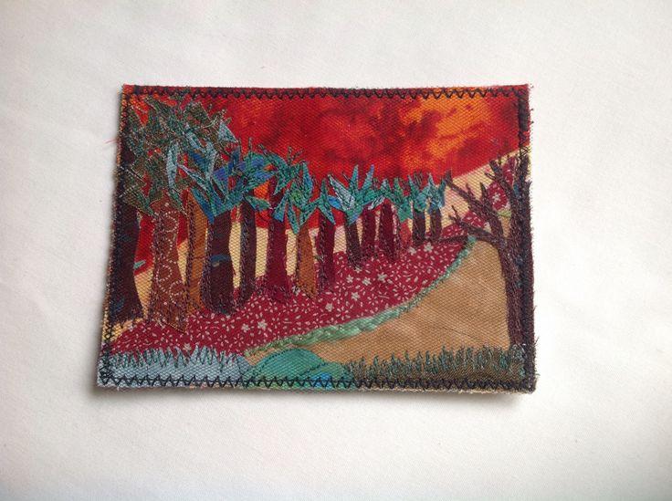 Fabric post card. Kay Horne