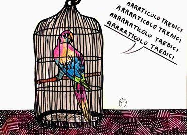 pubblicata sul sito web Vignettisti per la Costituzione art-13-costituzione