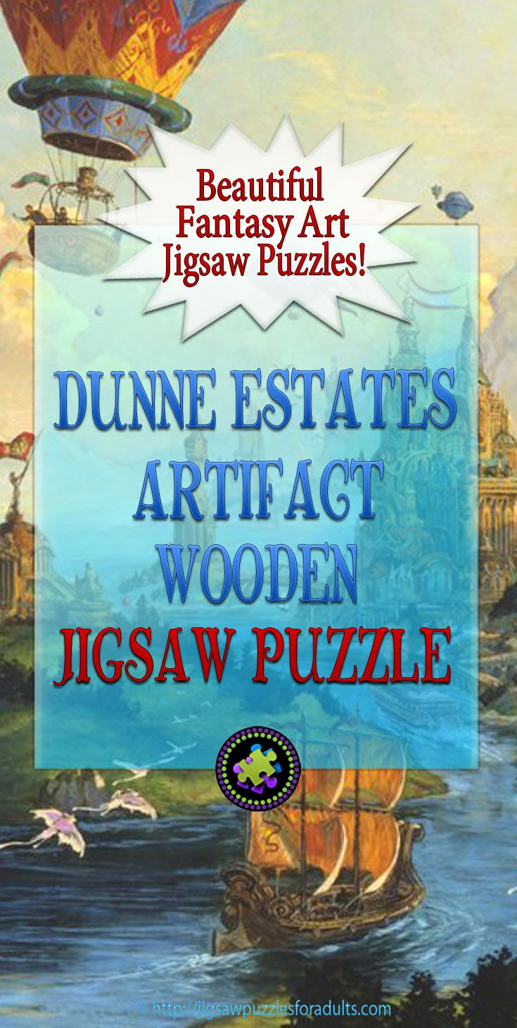 Dunne Estates Artifact Wooden Jigsaw Puzzle is an awesome puzzle from the fantasy art work of illustrator and artist Tom Kidd. This wooden jigsaw puzzle is a Great way to spend quality time with family or friends. Artifact Puzzles makes heirloom quality wooden jigsaw puzzles.