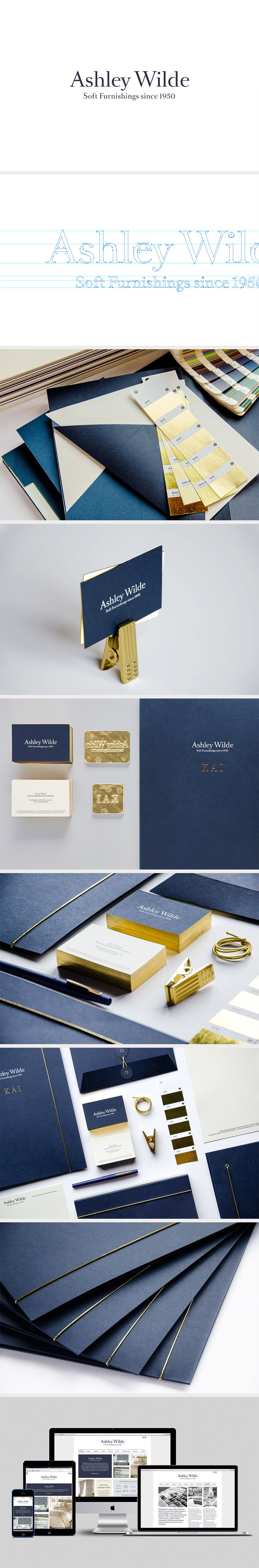 Ashley Wilde Brand Repositioning - The colors are great. Peacock blue with gold.