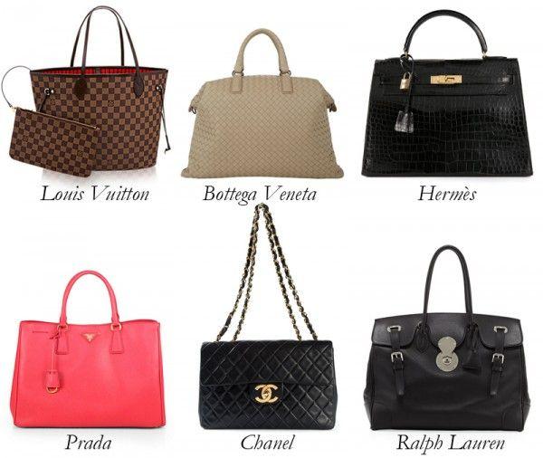 Designer bags.
