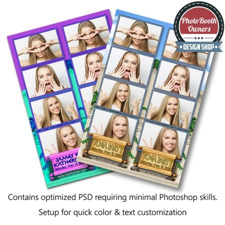 This grecian-themed photobooth template features a pair of archaic Roman or Greek columns and temple with interlaced natural vines. This template is perfect for any grecian-themed prom, wedding, dance or toga party! All elements can easily be color adjusted to compliment any event. This template is a postcard layout featuring 4 photos in a 4-up strip arrangement.