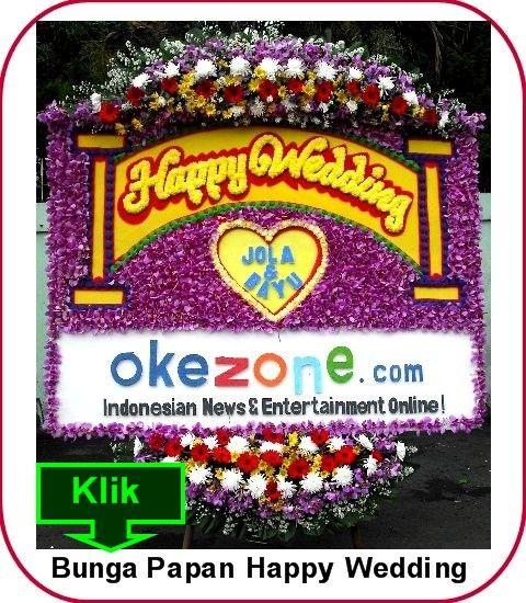 Bunga Papan Pernikahan Mesjid Jami Bintaro Bintaro Jaya  Pesta pernikahan umumnya memang sangat identik dengan hiasan bunga-bunga, aroma yan...