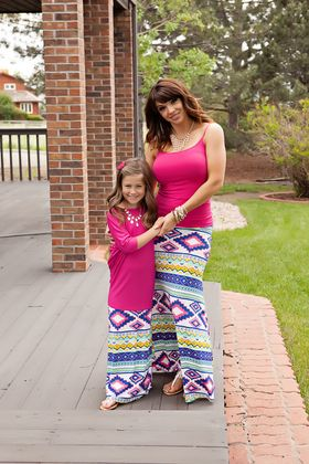 Mommy Multicolored Aztec Maxi Skirt