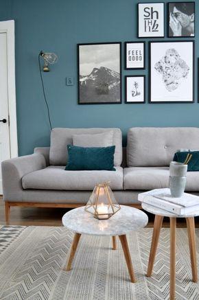 The 25+ best Salon bleu canard ideas on Pinterest   Deco bleu ...