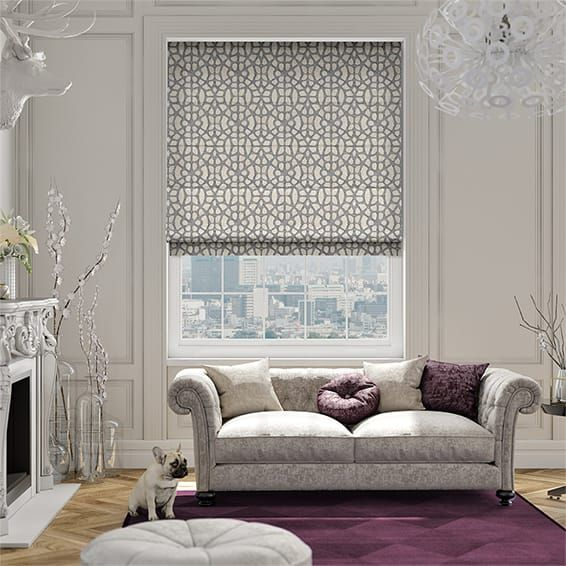 Swazi African Grey Roman Blind%20from%20Blinds%202go