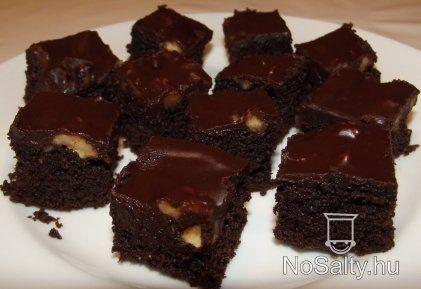 Diós meggyes csokis süti