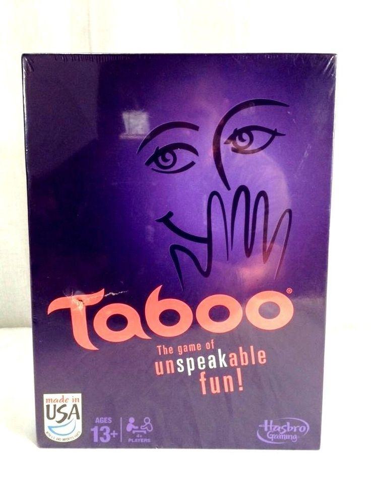 Taboo Board Game Purple Edition The Game of Unspeakable Fun #Hasbro #Taboo