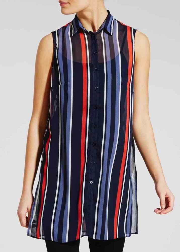 1f22fdd59ea16 Matalan Stripe Longline Tunic Navy Size UK 16 DH180 EE 22  fashion   clothing  shoes  accessories  womensclothing  tops (ebay link)