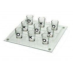 Glass Tic-Tac-Toe board and shot glass game |Free Delivery in Australia at Red Wrappings|