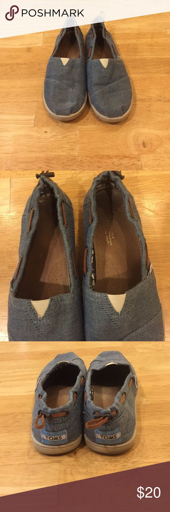 Jean Blue Toms Size youth 5.5 but fits women size 7.5 to 8! TOMS Shoes Flats & Loafers