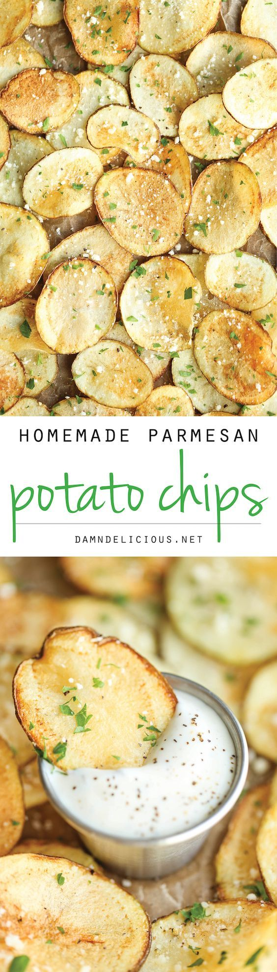 Homemade Parmesan Potato Chips Recipe — Dishmaps