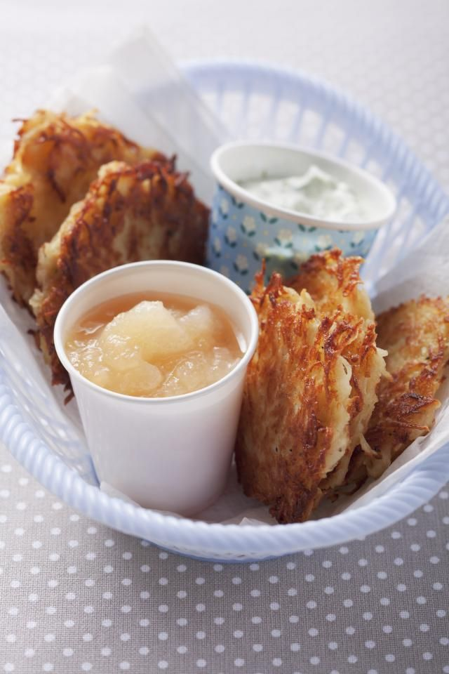 An easy to make, classic German potato pancake recipe. Serve these simple potato pancakes with a side of applesauce, sour cream or smoked salmon.