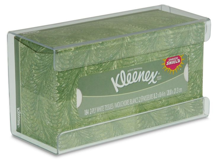 """TrippNT 51211 Plastic Wall Mountable Kleenex Box Holder, 9-7/8"""" Width x 5-1/4"""" Height x 2-3/4"""" Depth, Small, Clear: Industrial Lavatory Personal Product Dispensers: Amazon.com: Industrial & Scientific"""