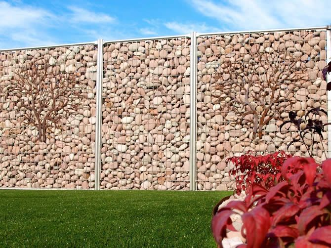 10 best Gabion rock wall fencing ideas images on Pinterest