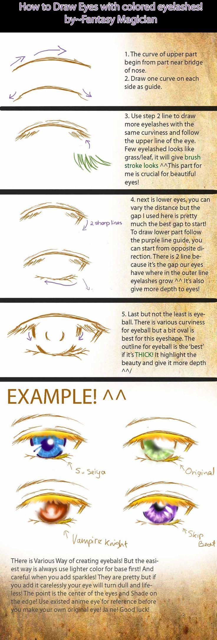 How to Draw Pretty Eyes by Fantasy-Magician.deviantart.com on @DeviantArt