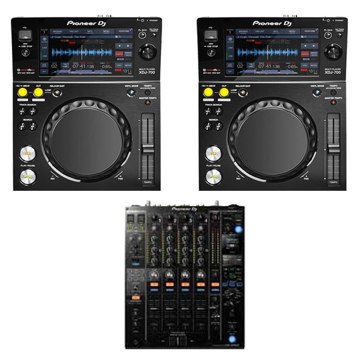 (2) Pioneer Pro DJ XDJ-700 Digital Multi Media Player With (1) Pioneer DJ DJM-900NXS2 Professional Mixer. Large full-color LCD touch screen and fast track selection with QWERTY keyboard search. Pro-DJ features inherited from flagship players. rekordbox-ready to give access to more features and enhanced track information. Pro DJ Link for enhanced flexibility and scope. Load and browse music using Wi-Fi or USB connection.