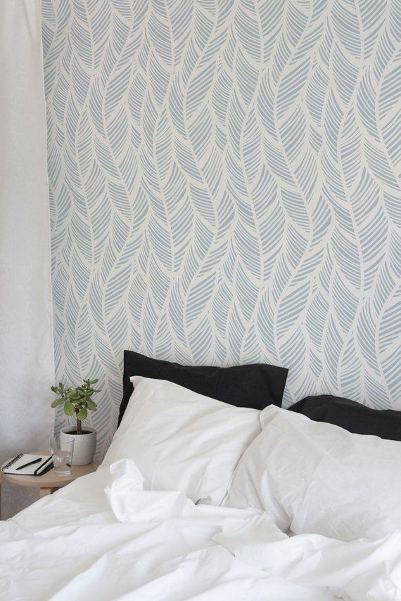 Removable Wallpaper Peel And Stick Wallpaper Wall Paper Wall Etsy White Sheet Set Feather Wallpaper Wall Wallpaper