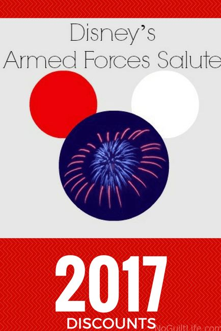 Military discounts announced at Walt Disney World for 2017. Armed Forces Salute | Disney Vacation | Discount | Army | Navy | Air Force | Marines | Coast Guard