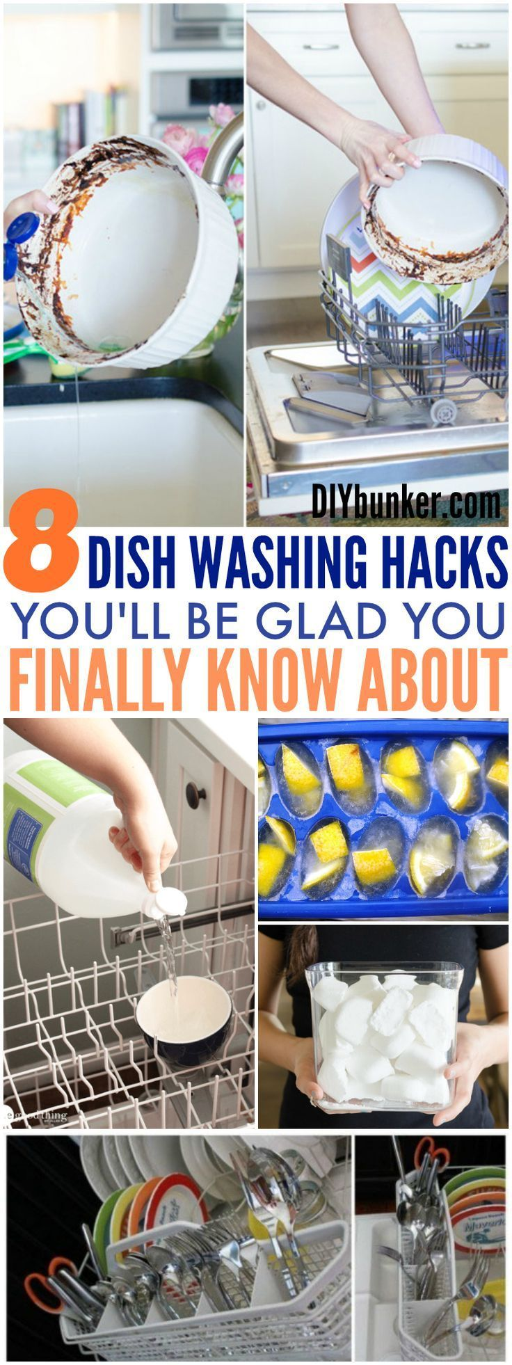 These 8 Dish Washing Hacks Will Make Your Life So Much EASIER! I love the blender trick so much as I make a bunch of smoothies!