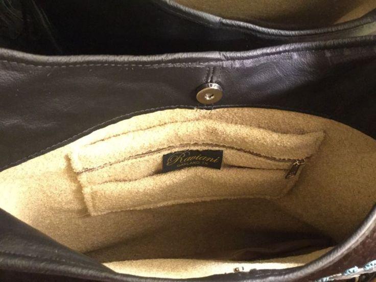raviani Western кожаная Дамская сумка бахрома сумочка с расписными индеец вождь
