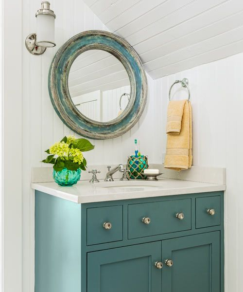25 Best Ideas About Blue Vanity On Pinterest Blue Cabinets Navy Blue Bathrooms And Cottage