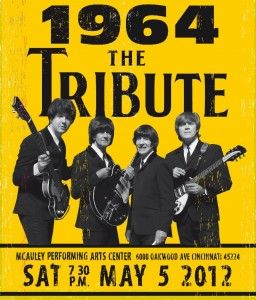 beatles tribute poster - yay, proceeds for Catholic schools!