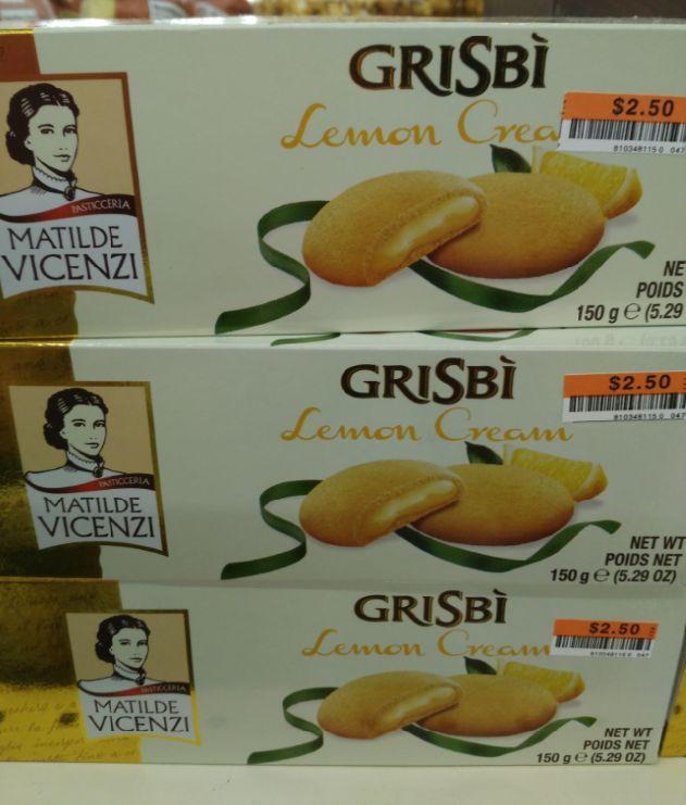 Matilde Vicenzi Grisbi Lemon Cream Cookies