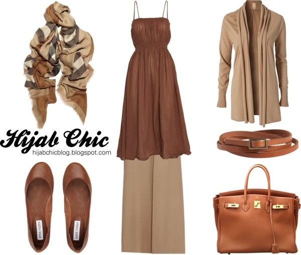 """Hijab style inspiration: beige skirt style"" by vanillagurl88 on Polyvore"