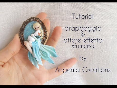 Tutorial angenioso - drappeggio & sfumatura / dress - YouTube