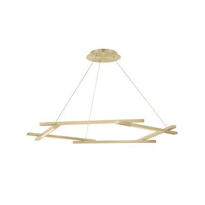 Modern Forms Metric 6-Light LED Chandelier Finish: Brushed Brass