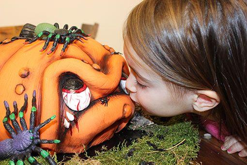 3D Torte: Karl der Kürbis