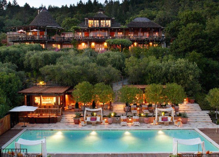 auberge-du-soleil-napa-valley-california-California Dreamin, Chic, Valley Auberge, Auberge Du, Napa Valley, Country Home, Solar, Napa California, Honeymoons Hotels